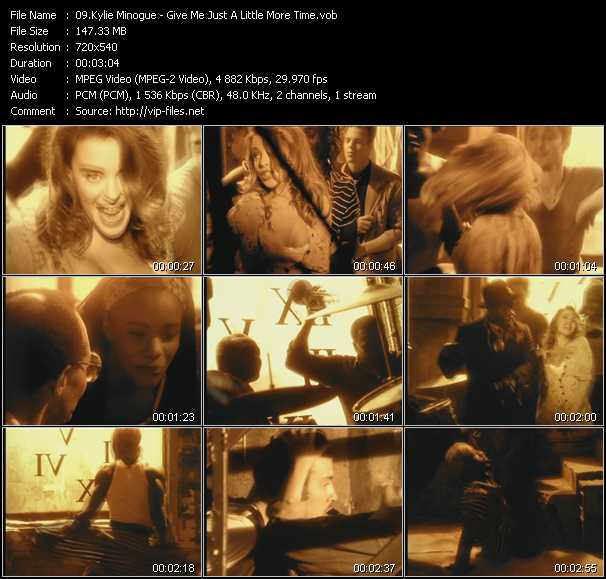 Kylie Minogue video - Give Me Just A Little More Time