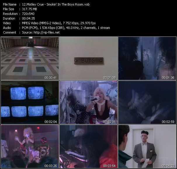 Motley Crue video - Smokin' In The Boys Room