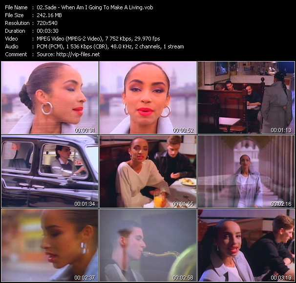 Sade video - When Am I Going To Make A Living