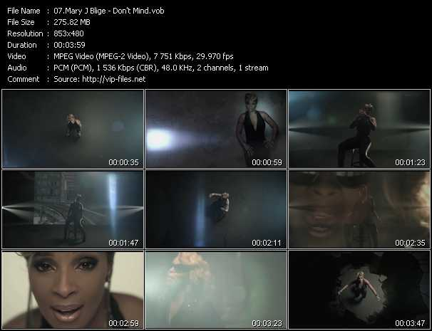 Mary J. Blige video - Don't Mind