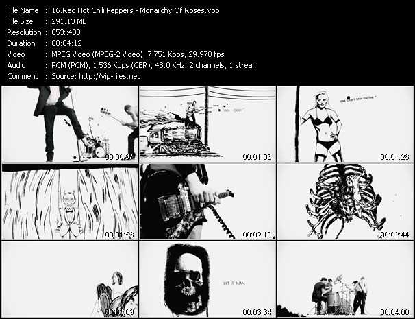 Red Hot Chili Peppers video - Monarchy Of Roses