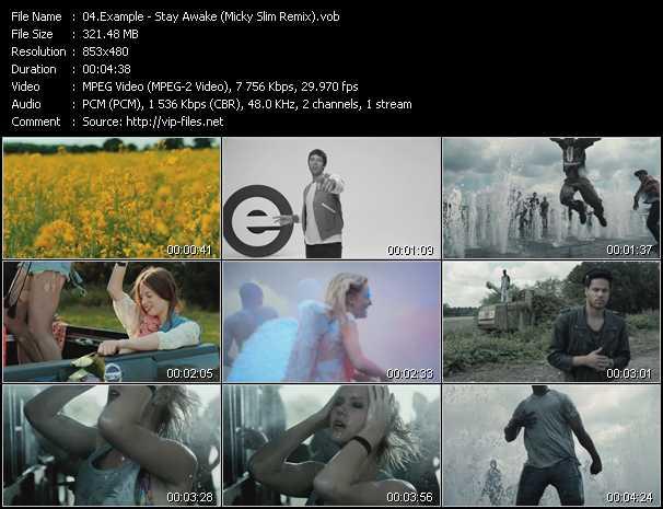 Example video - Stay Awake (Micky Slim Remix)