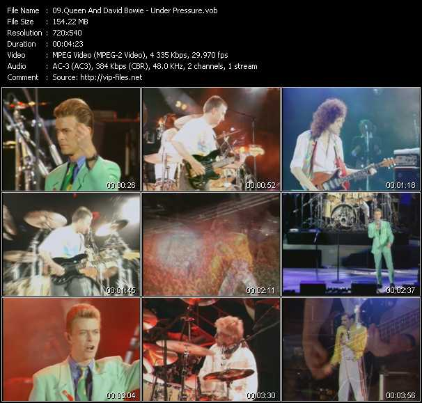 Queen And David Bowie video - Under Pressure