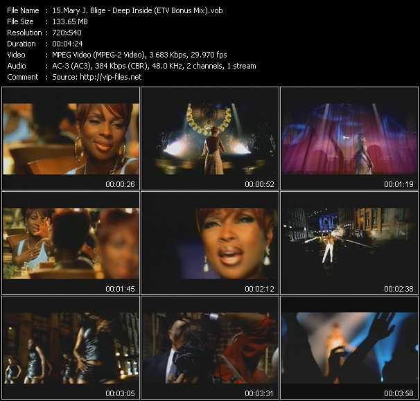 Mary J. Blige video - Deep Inside (ETV Bonus Mix)