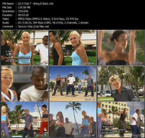 S Club 7 video - Bring It Back