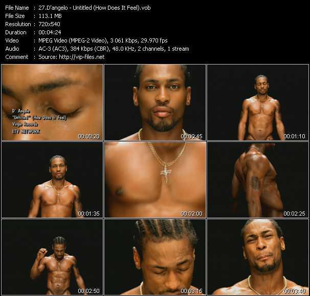 D'Angelo video - Untitled (How Does It Feel)