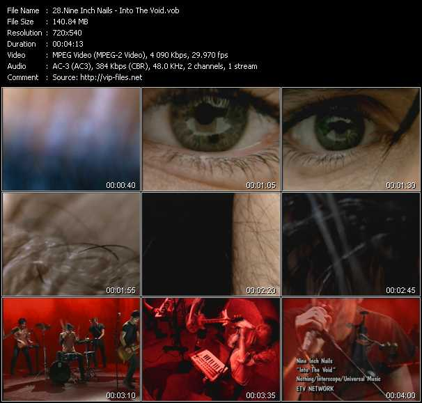 Nine Inch Nails video - Into The Void