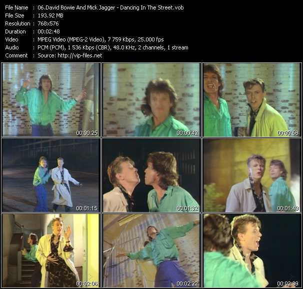 David Bowie And Mick Jagger video - Dancing In The Street