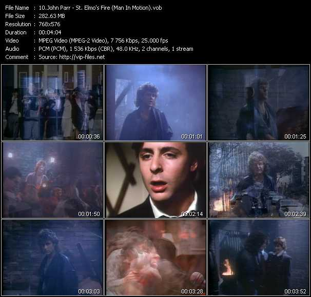 John Parr video - St. Elmo's Fire (Man In Motion)