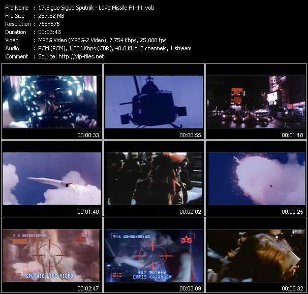 Sigue Sigue Sputnik video - Love Missile F1-11