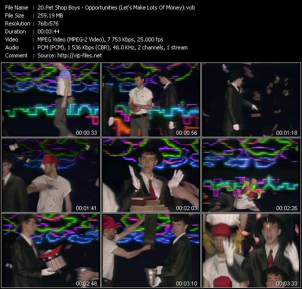 Pet Shop Boys video - Opportunities (Let's Make Lots Of Money)