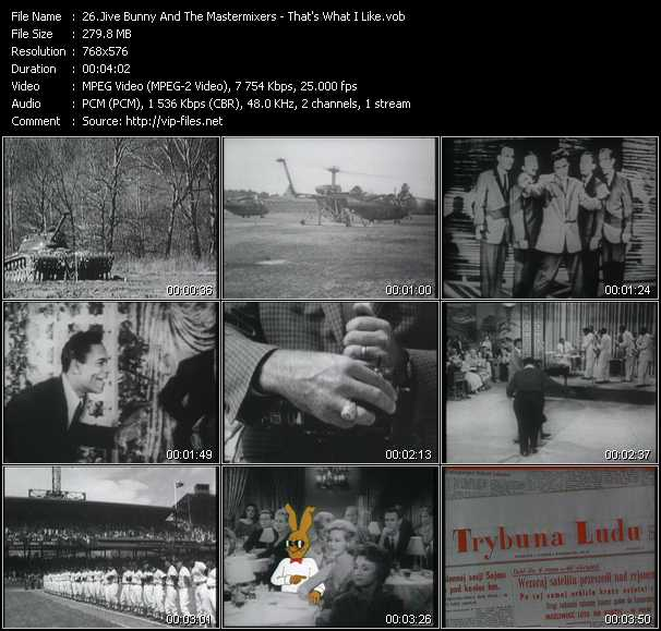 Jive Bunny And The Mastermixers video - That's What I Like