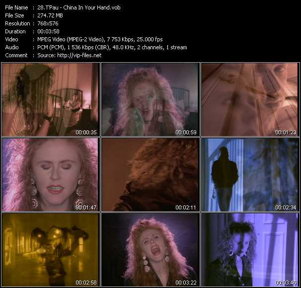 T'Pau video - China In Your Hand