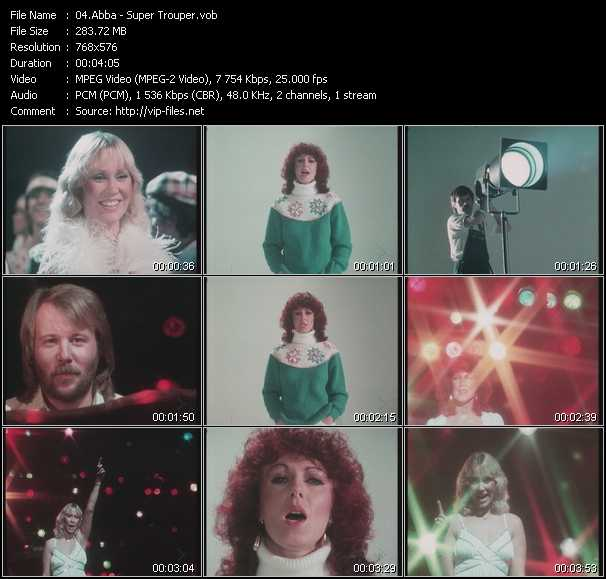 Abba video - Super Trouper