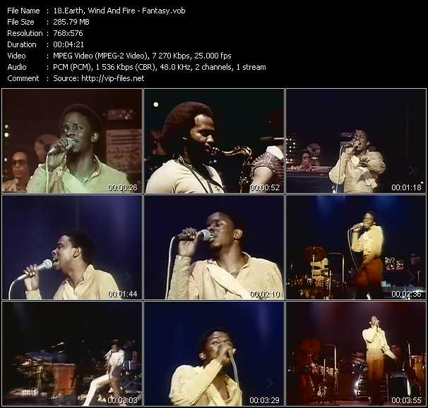 Earth, Wind And Fire video - Fantasy