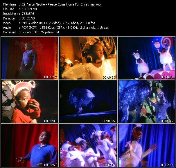 Aaron Neville video - Please Come Home For Christmas