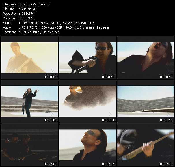 U2 video - Vertigo