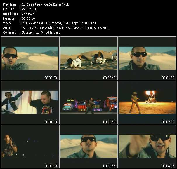 Sean Paul video - We Be Burnin'