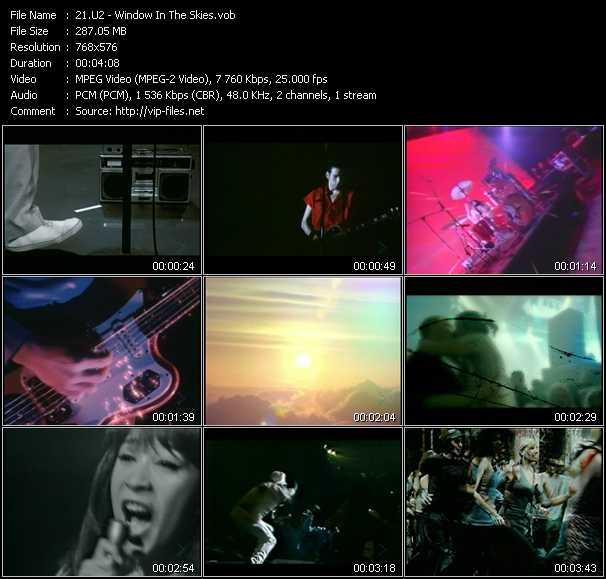 U2 video - Window In The Skies