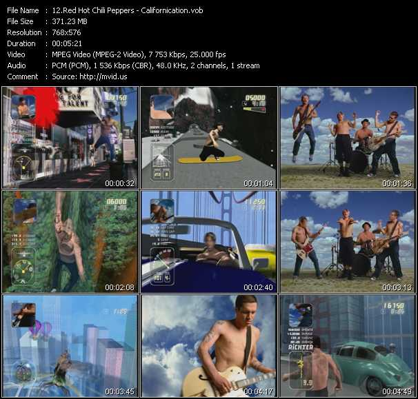 Red Hot Chili Peppers video - Californication