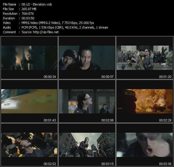 U2 video - Elevation