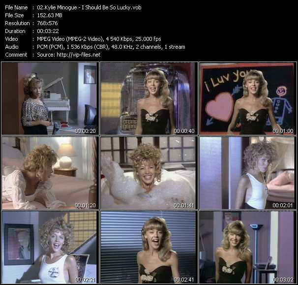 Kylie Minogue video - I Should Be So Lucky