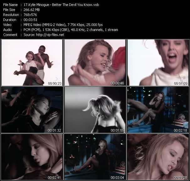 Kylie Minogue video - Better The Devil You Know