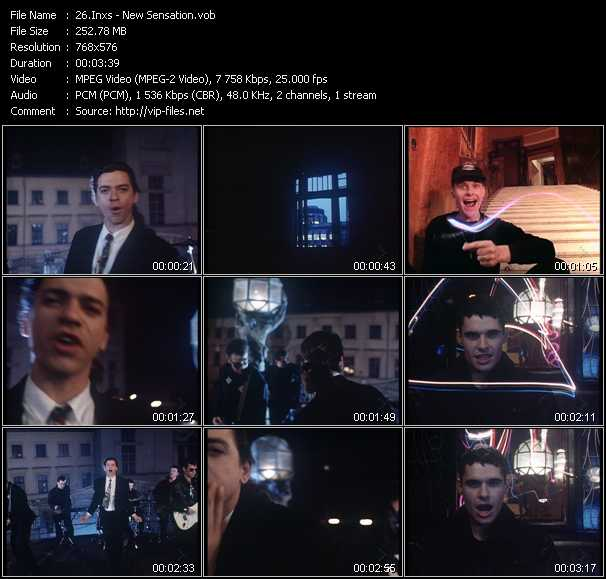 Inxs video - New Sensation