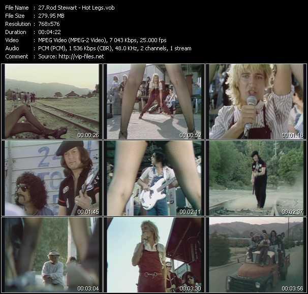 Rod Stewart video - Hot Legs