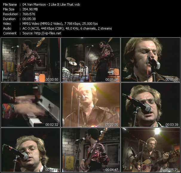 Van Morrison video - I Like It Like That (From Musikladen)