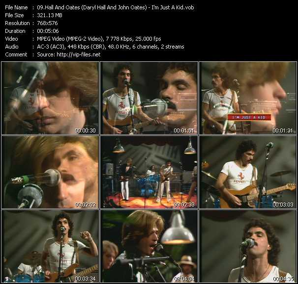 Hall And Oates (Daryl Hall And John Oates) video - I'm Just A Kid (From Musikladen)