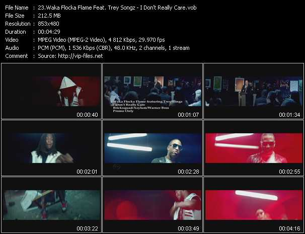 Waka Flocka Flame Feat. Trey Songz video - I Don't Really Care