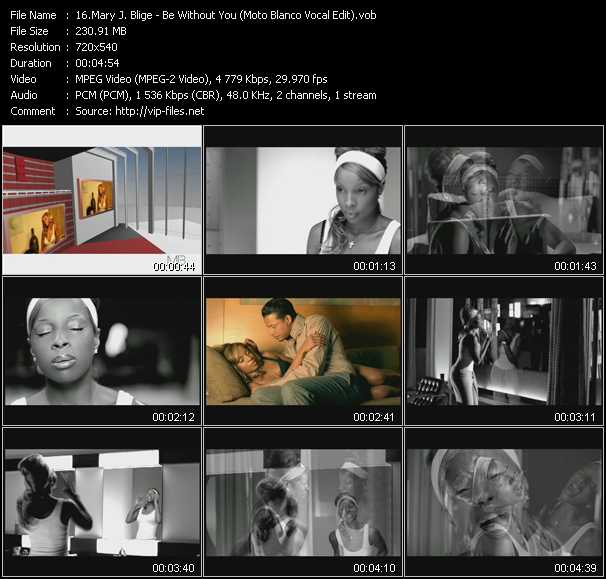 Mary J. Blige video - Be Without You (Moto Blanco Vocal Edit)