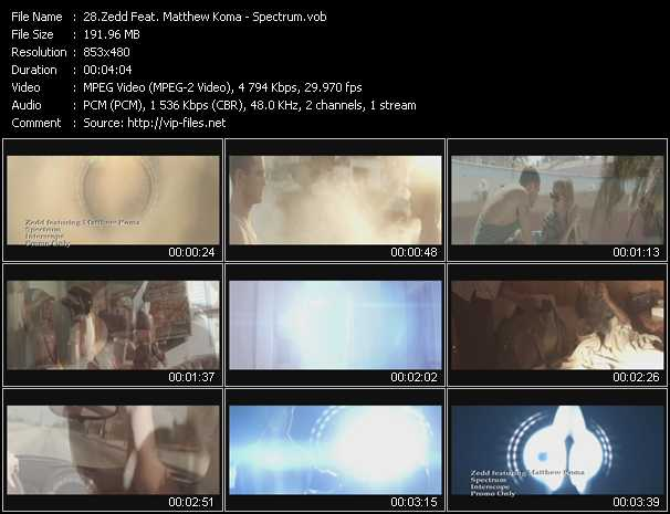 Zedd Feat. Matthew Koma video - Spectrum