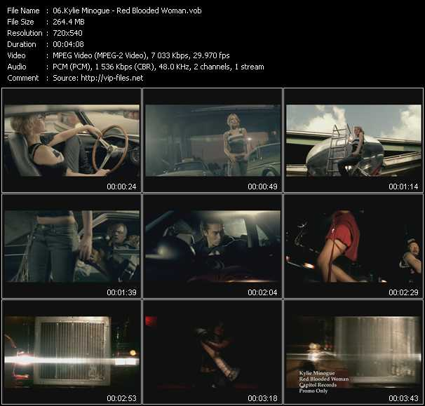 Kylie Minogue video - Red Blooded Woman