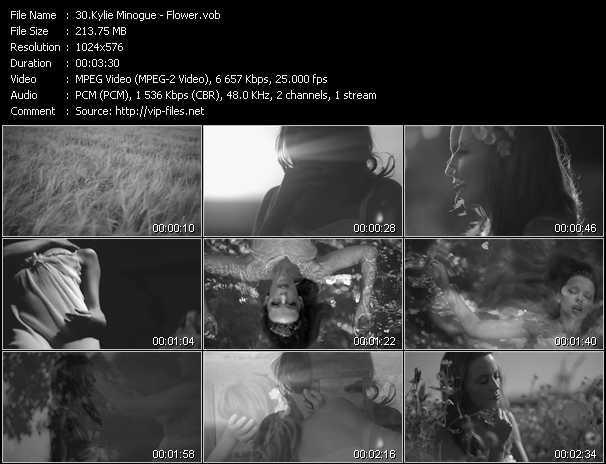 Kylie Minogue video - Flower
