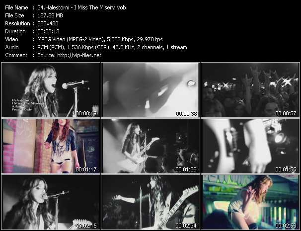 Halestorm video - I Miss The Misery