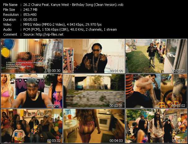 2 Chainz Feat. Kanye West video - Birthday Song (Clean Version)