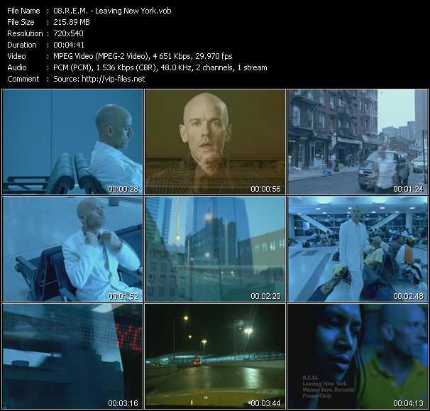 R.E.M. video - Leaving New York