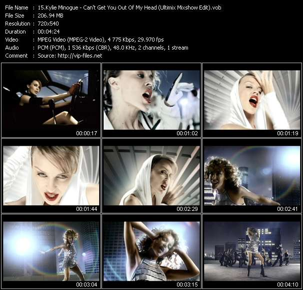 Kylie Minogue video - Can't Get You Out Of My Head (Ultimix Mixshow Edit)