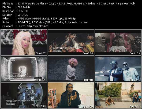 Waka Flocka Flame Feat. Nicki Minaj, Tyga, And Flo Rida - Juicy J Feat. Lil' Wayne And 2 Chainz - B.O.B. Feat. Nicki Minaj - Birdman Feat. Lil' Wayne And Mack Maine - 2 Chainz Feat. Kanye West music video Publish2