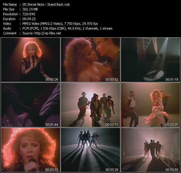 Stevie Nicks video - Stand Back