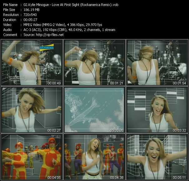 Kylie Minogue video - Love At First Sight (Rockamerica Remix)