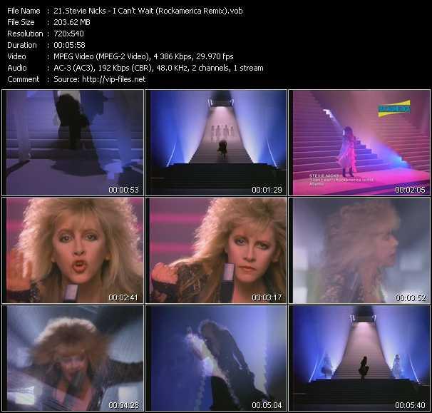 Stevie Nicks video - I Can't Wait (Rockamerica Remix)