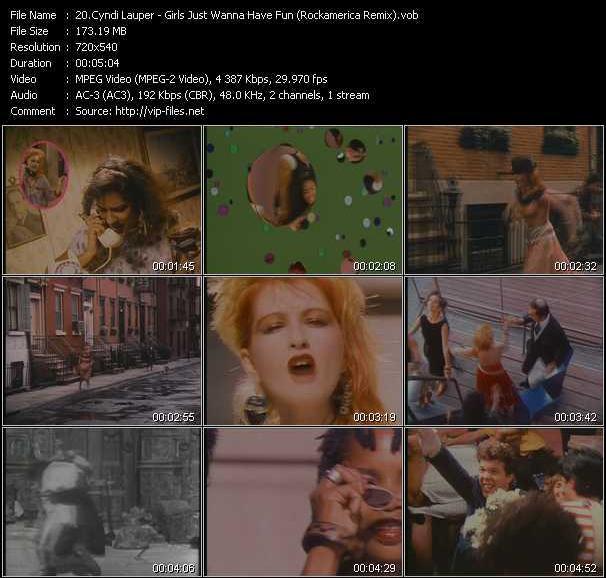 Cyndi Lauper video - Girls Just Wanna Have Fun (Rockamerica Remix)