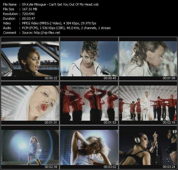 Kylie Minogue video - Can't Get You Out Of My Head