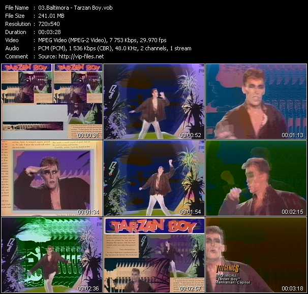 Baltimora video - Tarzan Boy
