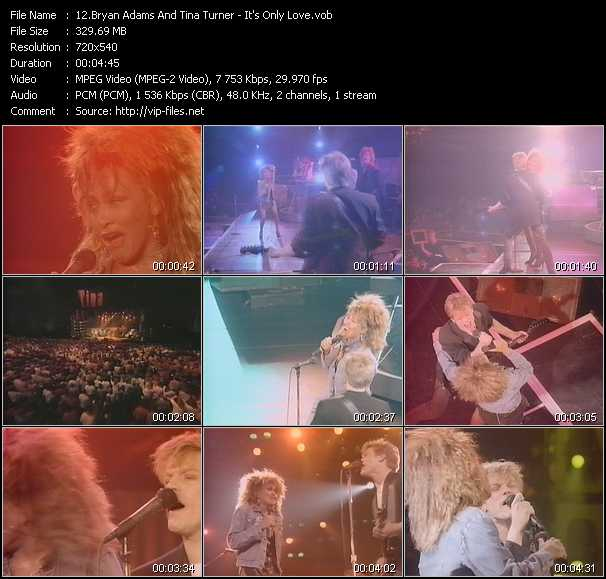 B. Adams And Tina Turner video - It's Only Love