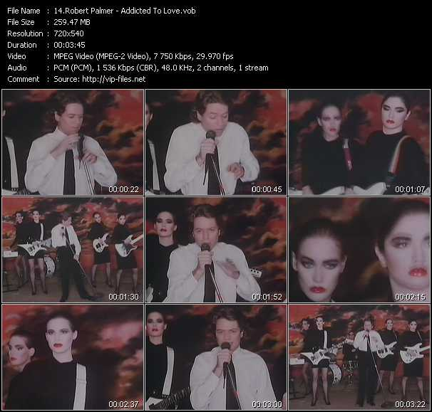Robert Palmer video - Addicted To Love