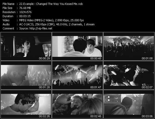Example video - Changed The Way You Kissed Me